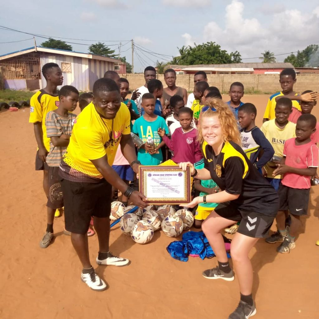 Football Coaching for Girls in Ghana
