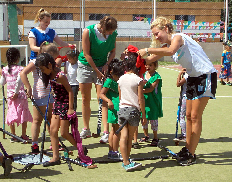 Hockey Community Coaching Session Argentina