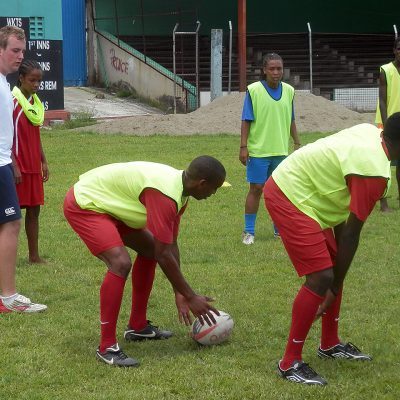 Rugby Coaching and Playing Project in St Lucia, Castries