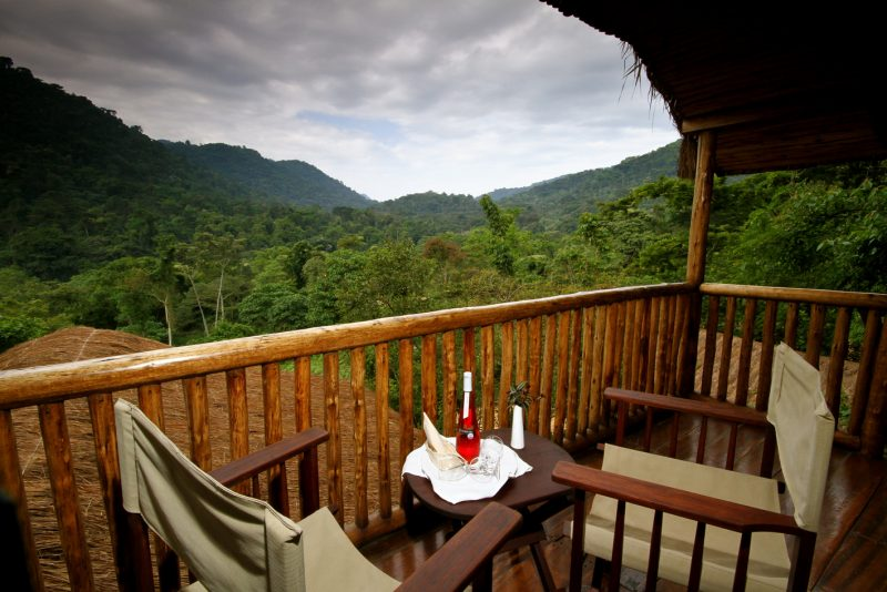 Uganda - 1568 - Bwindi Impenetrable Forest - Buhoma Lodge Balcony Views