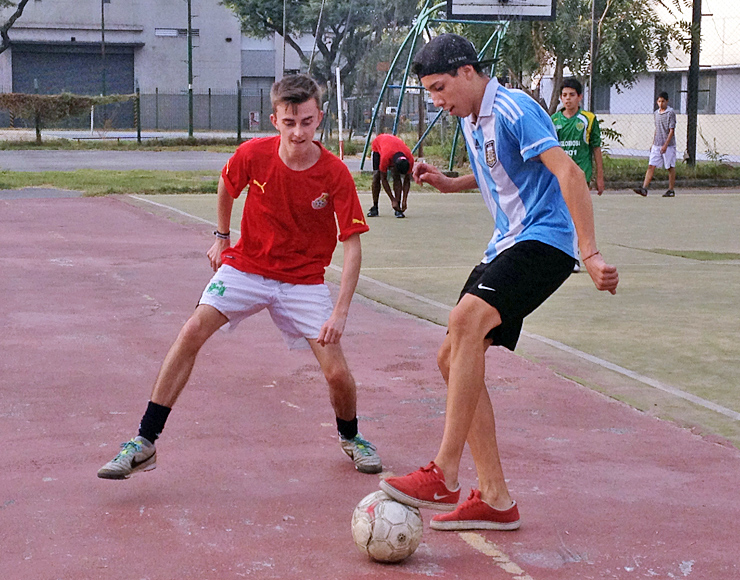Play Football in South America