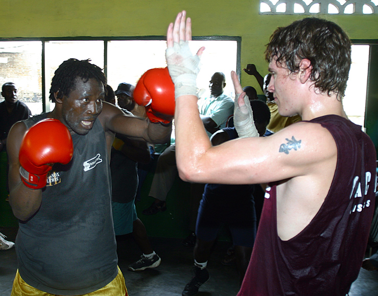 Boxing Sparring Session in Ghana