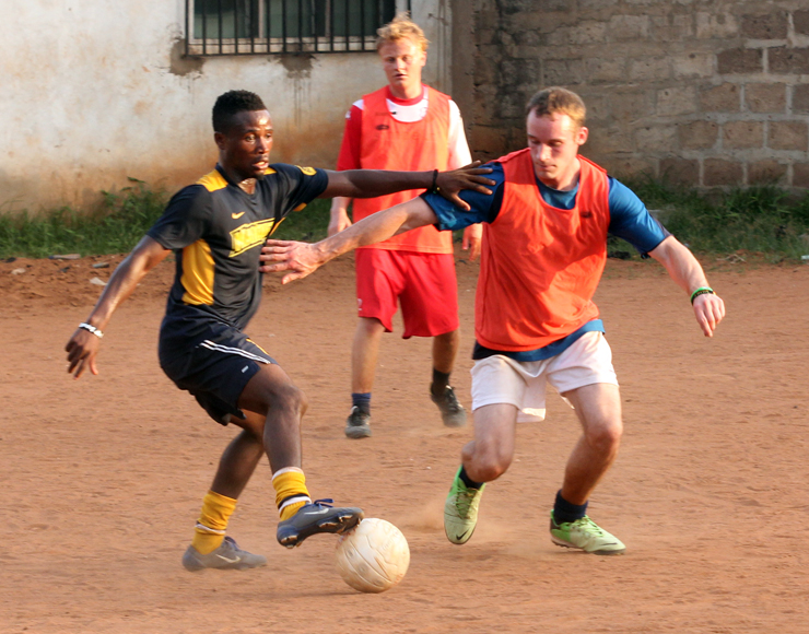 Play Football in Ghana