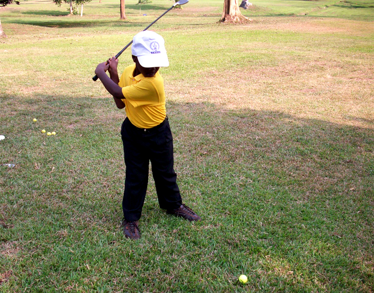 Teach Kids Golf in Ghana