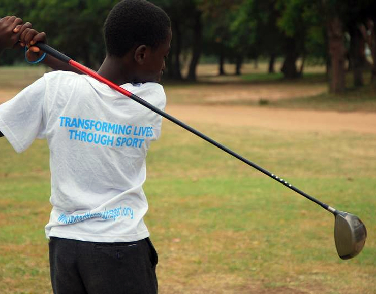 Teaching Kids Golf Ghana