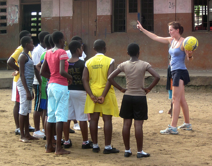 Netball Coaching Session in Ghana