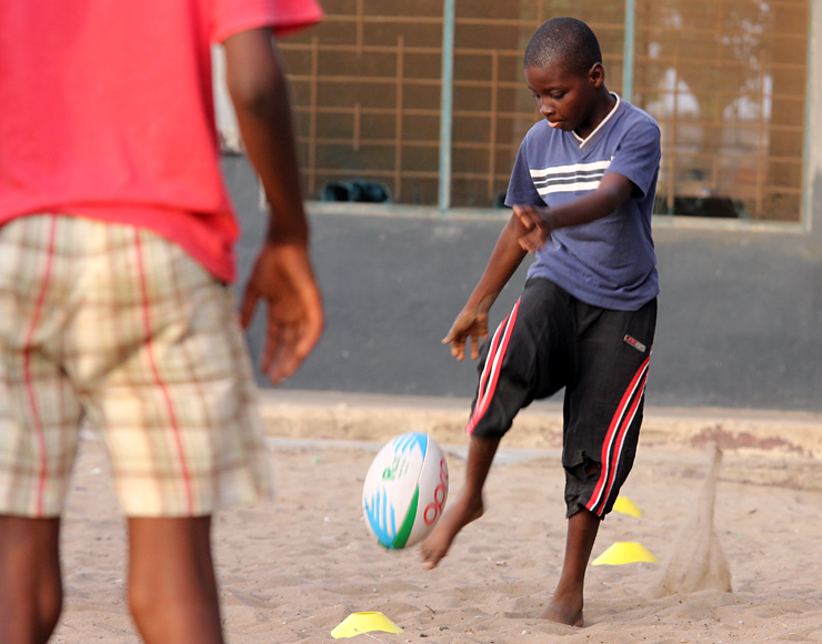 Rugby Kick Training Ghana