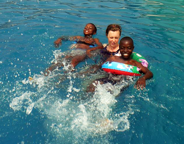 Swimming Teaching Volunteer Project in Ghana, Accra 2588