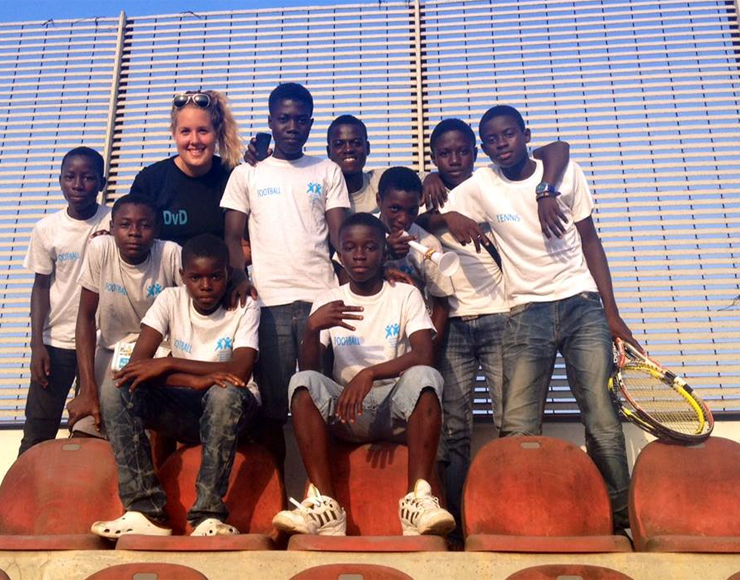 Tennis Volunteer Coaching Ghana