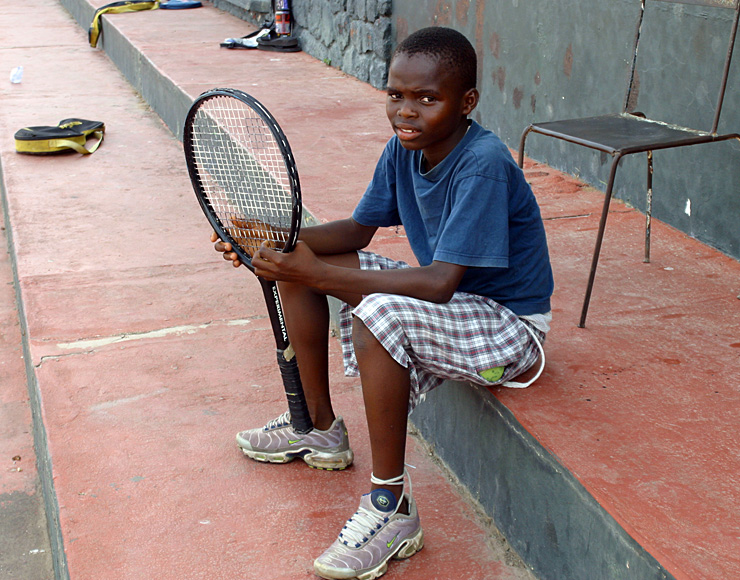Young Ghanaian Tennis Player
