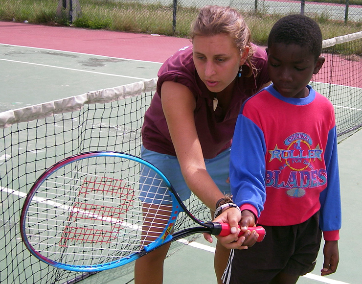 Tennis Coaching Project in Ghana
