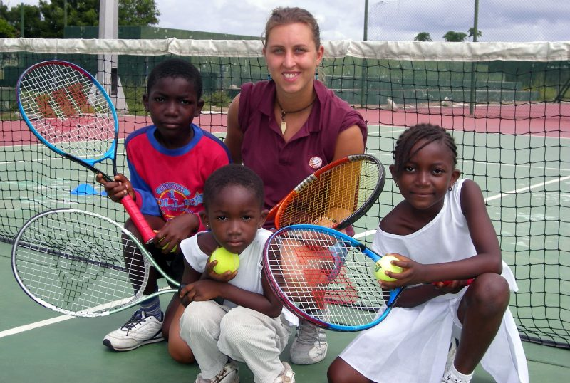Coach Tennis to Kids in Ghana