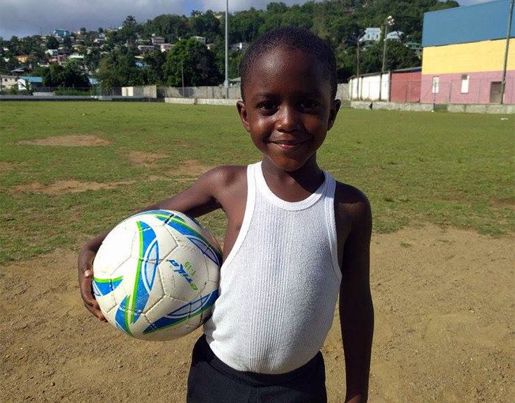Football Kid in St Lucia
