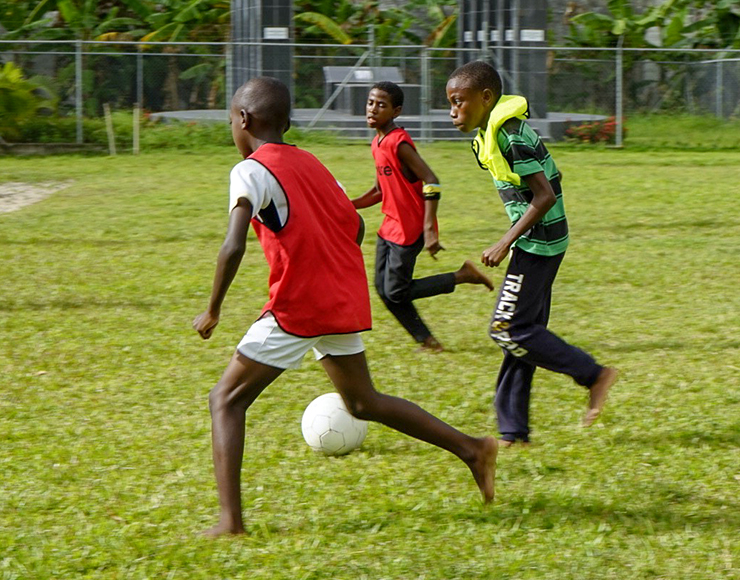 Football Playing in St Lucia
