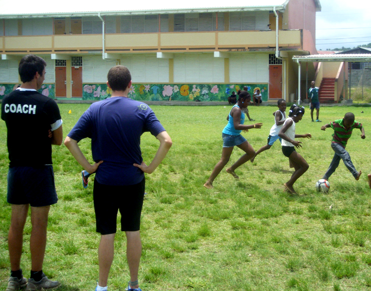 Coach Football to Kids in St Lucia
