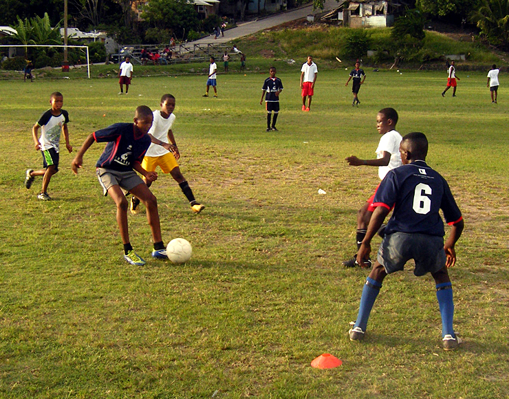 Play Football in St Lucia