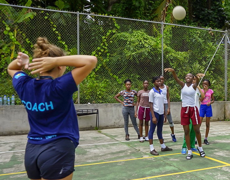 Netball Volunteer Project St Lucia