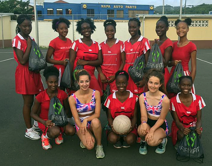 Netball Team in St Lucia