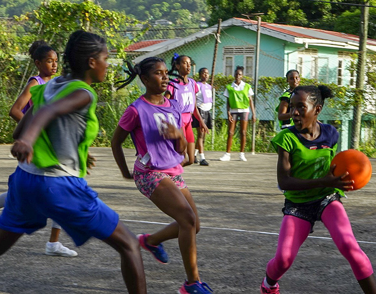 Netball for Kids in St Lucia