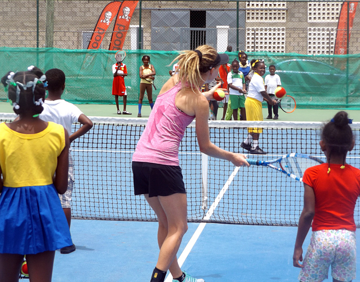 Coach Tennis to Kids in St Lucia