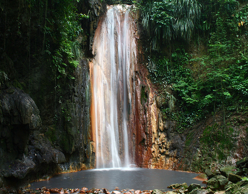 Waterfall in St Lucia