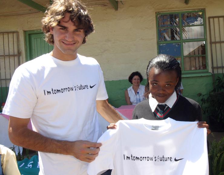 Roger Federer in South Africa