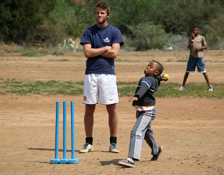 Coach Cricket to Kids in South Africa