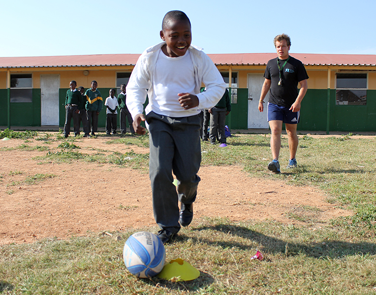 Football Coaching Drill in South Africa