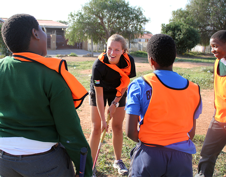 Coach Hockey to Kids in South Africa