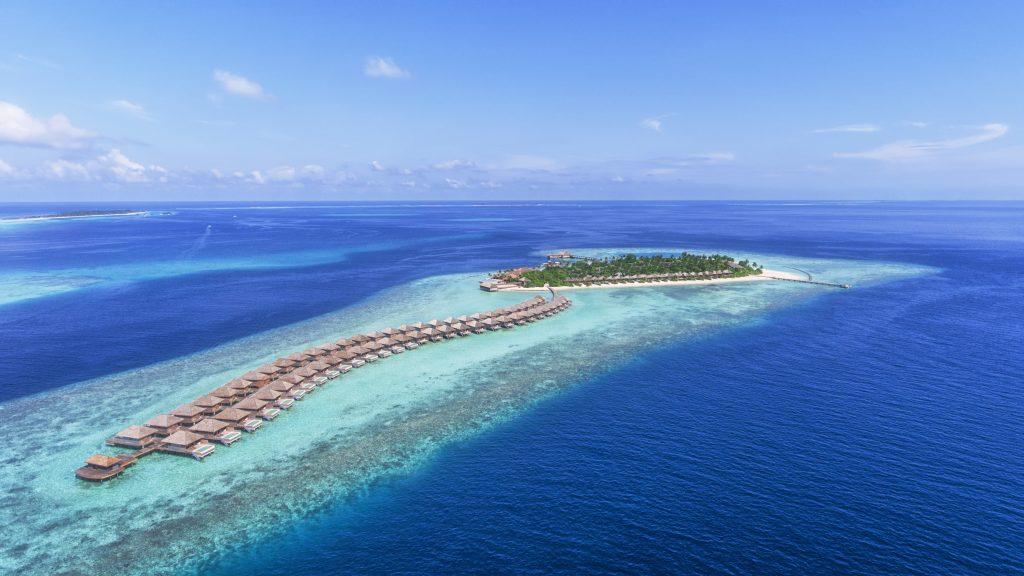 Maldives - Lhaviyani Atoll - 1567 - Hurawalhi Island Resort - Aerial of Ocean Villas