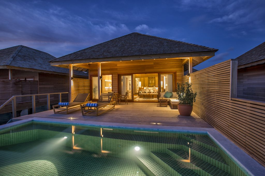 Maldives - Lhaviyani Atoll - 1567 - Hurawalhi Island Resort - Ocean Pool Villa Exterior at night
