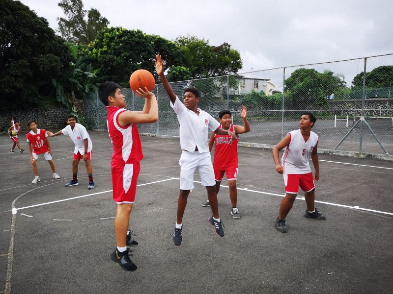Basketball Coaching and Playing Project in Mauritius 2541