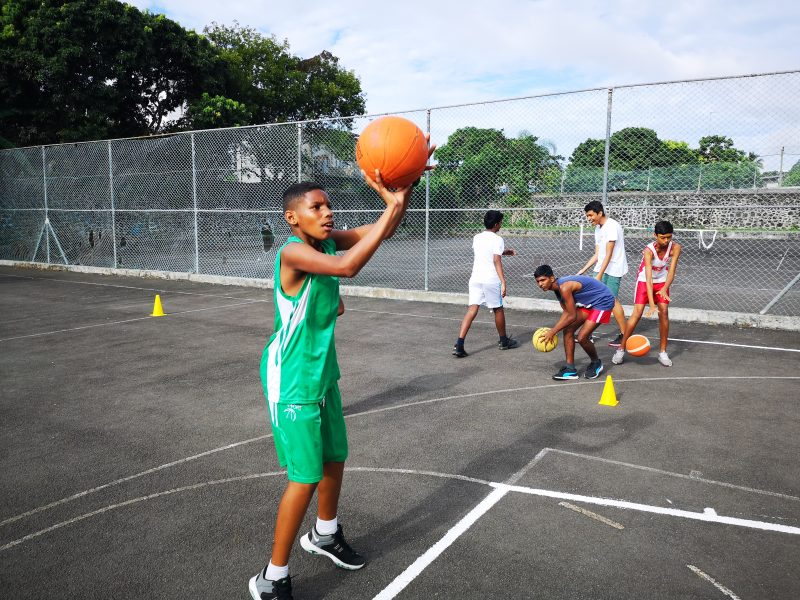 School Basketball Coaching in Mauritius