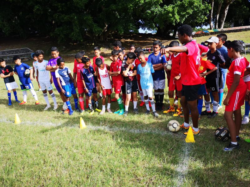 Football Coaching and Playing Project in Mauritius 2542