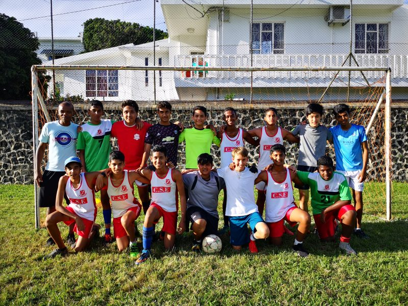 Mauritius School Football Team Shot