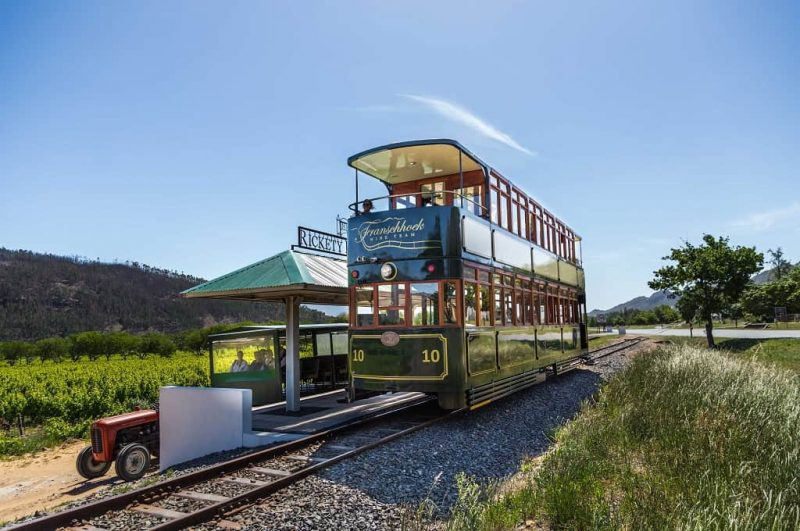 Wine Tram Franschhoek provided by Tourvest DMC