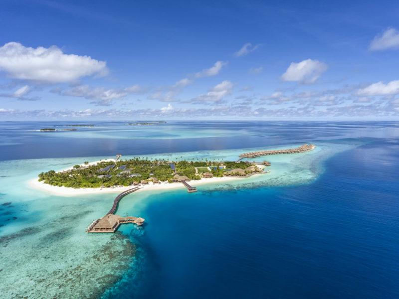 Maldives - Lhaviyani Atoll - 1567 - Hurawalhi Island Resort - Aerial view of Atol - Perfect Island