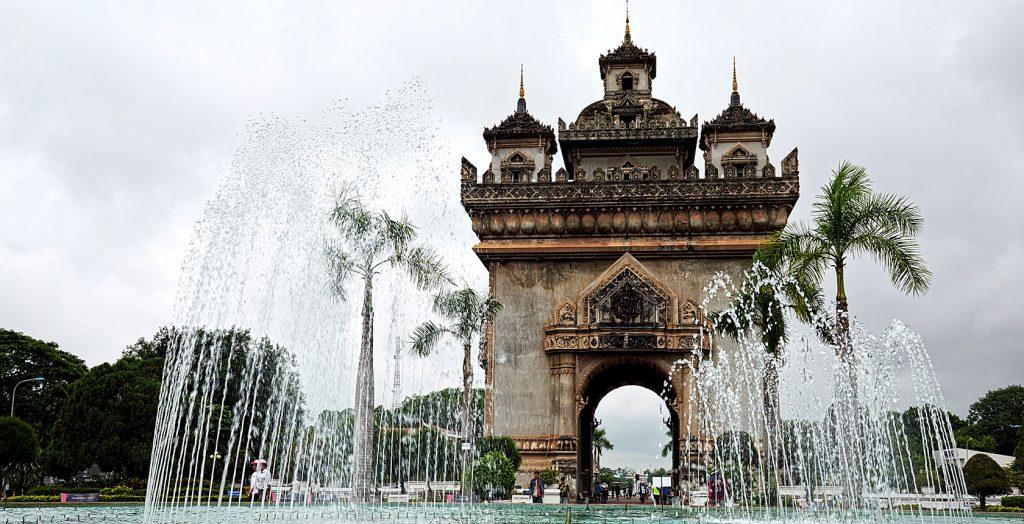 Laos - 17089 - Historical Landmark - Water Fountains