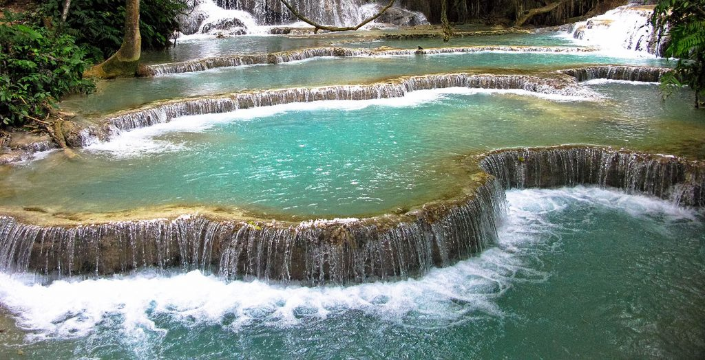 Laos - 17089 - Waterfalls and Pools - Turquoise Waters