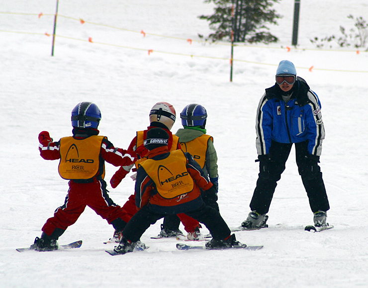 Ski Instruction to Children