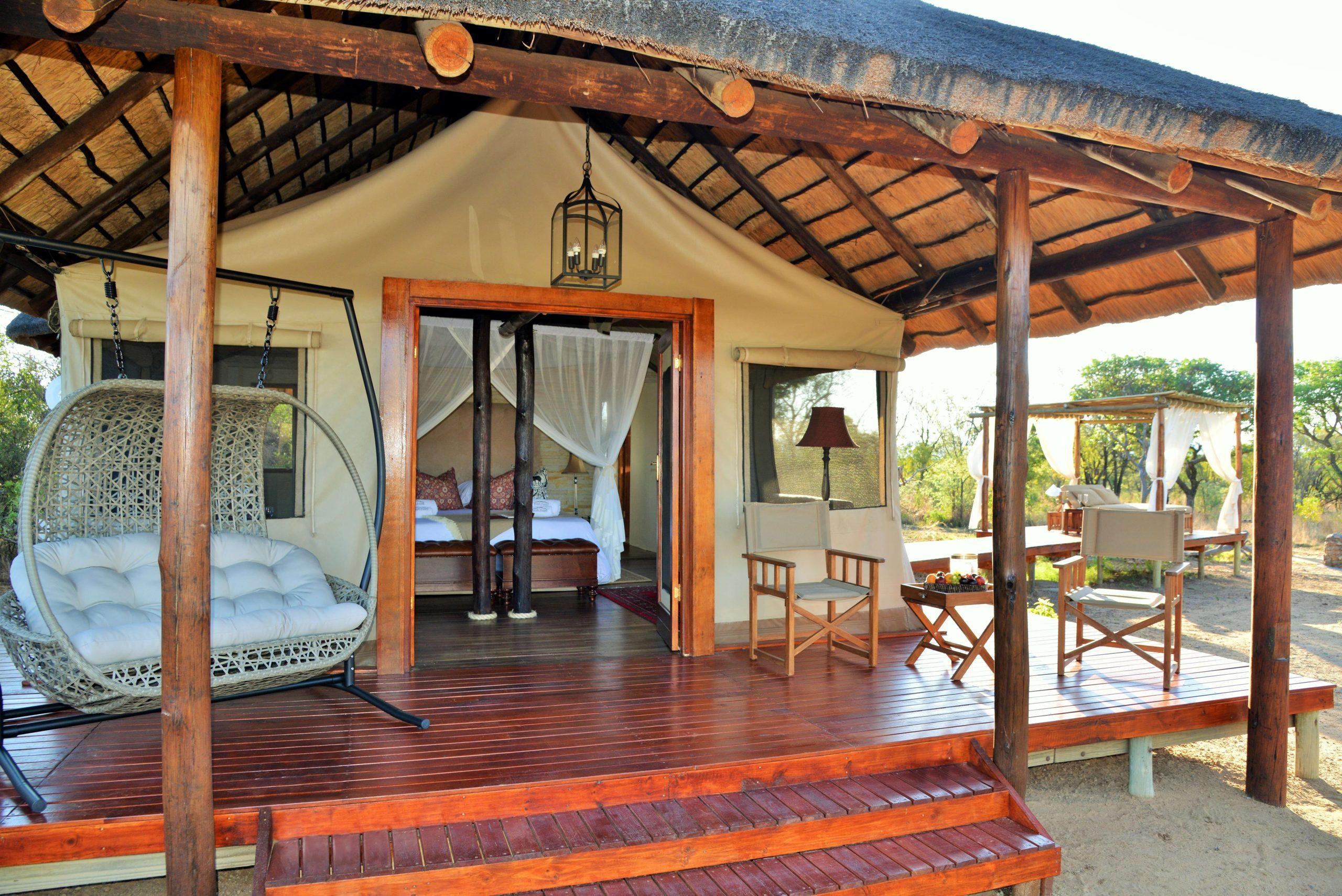Safari Plains Luxury Tent Entrance