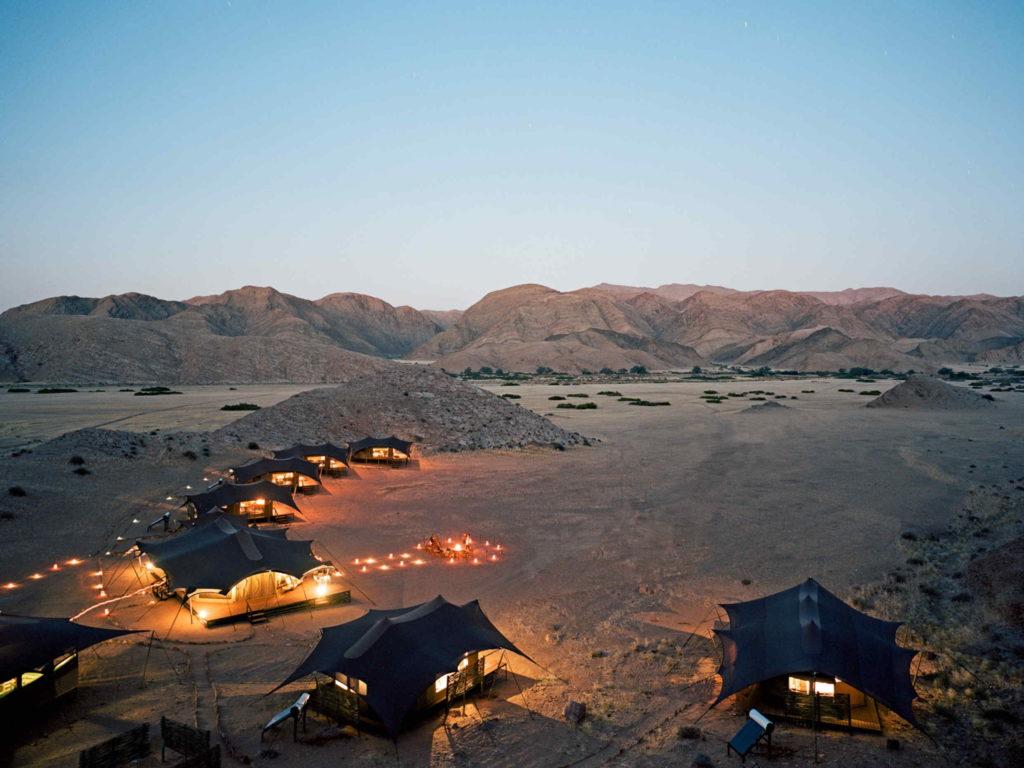 Namibia - Kaokoveld - 1552 - Ariel View of Camp