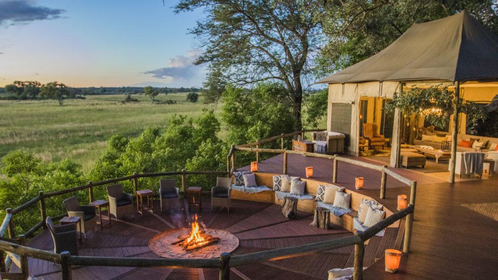 Namibia - Caprivi Strip - 1552 - Seating round Campfire