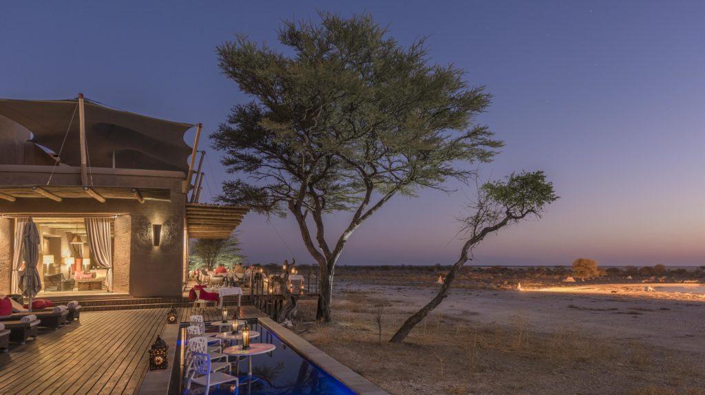 Namibia - Etosha - 1552 - Decking at Night