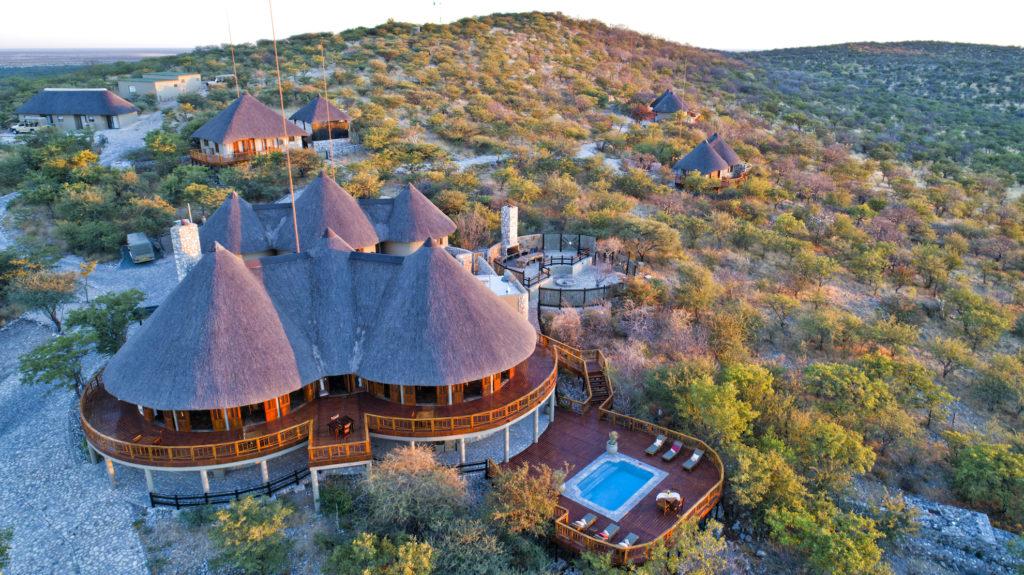 Namibia - Etosha - 1552 - Aerial of Mountain Lodge