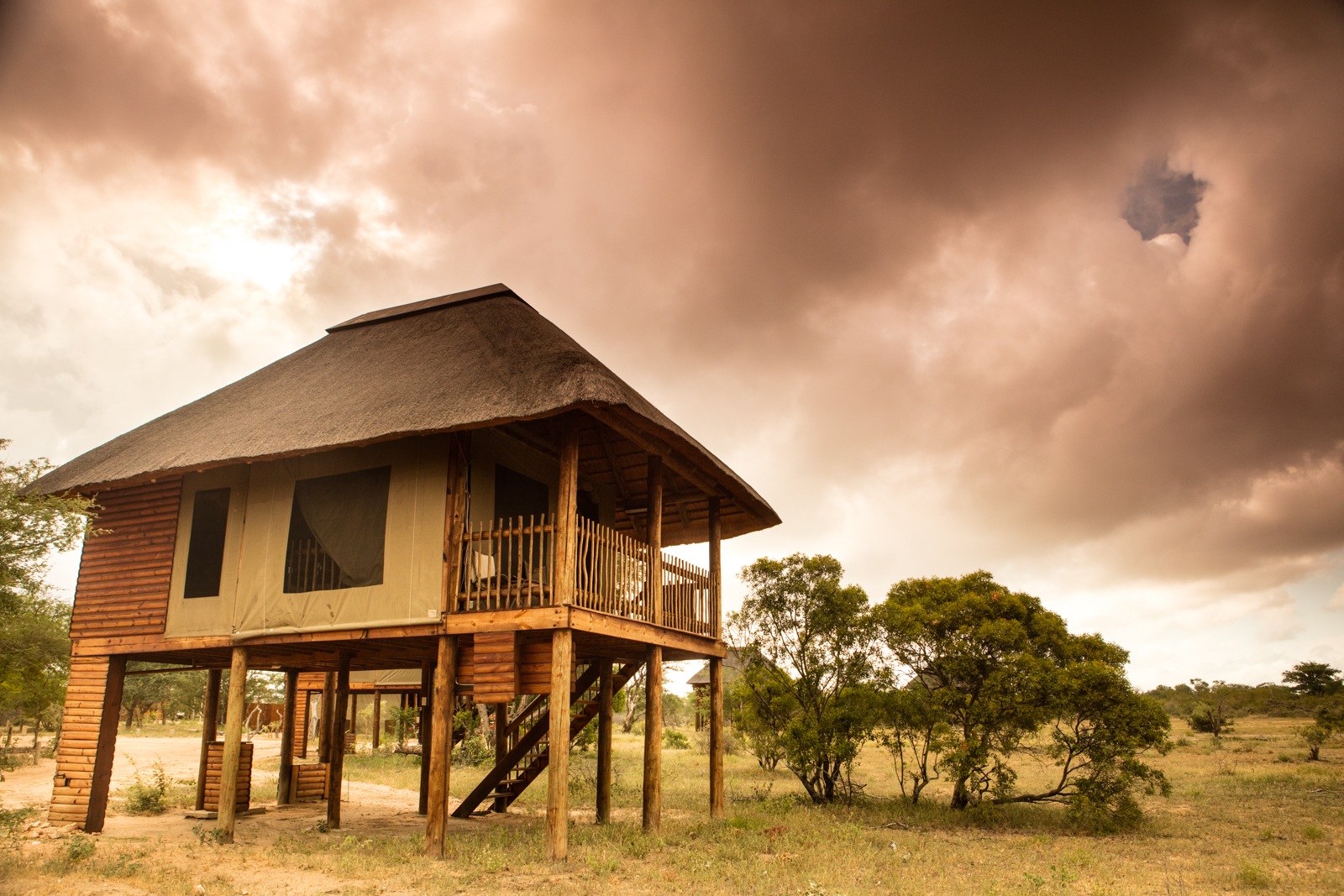 nThambo Tree Camp Outside Chalet Area