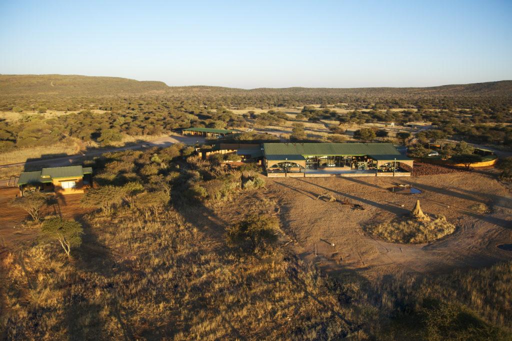 Namibia - Okonjima Nature Reserve - 1552 - Aerial Show of Camp