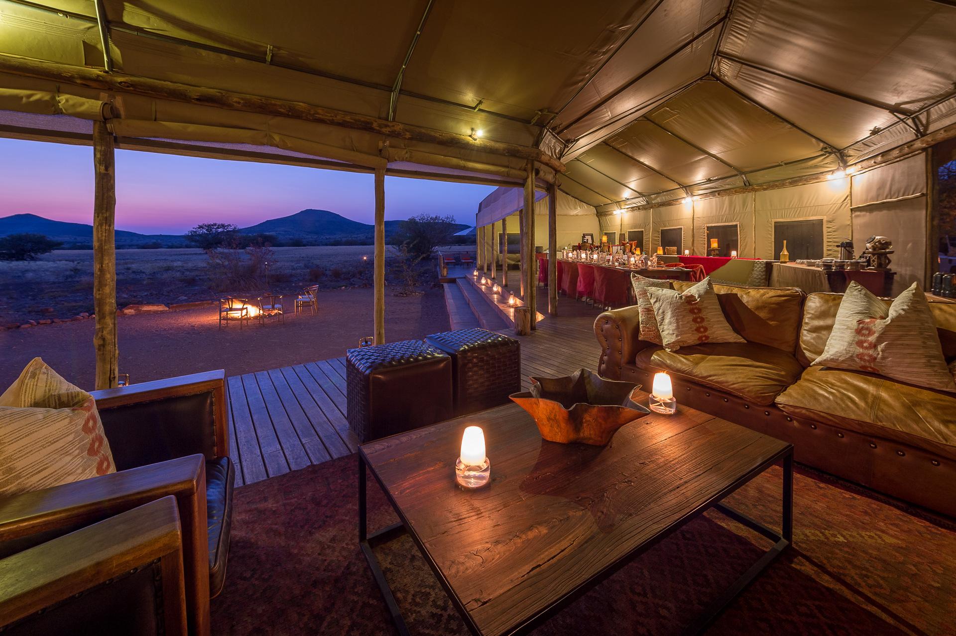 Namibia - 1552 - Desert Rhino Camp - Lounge
