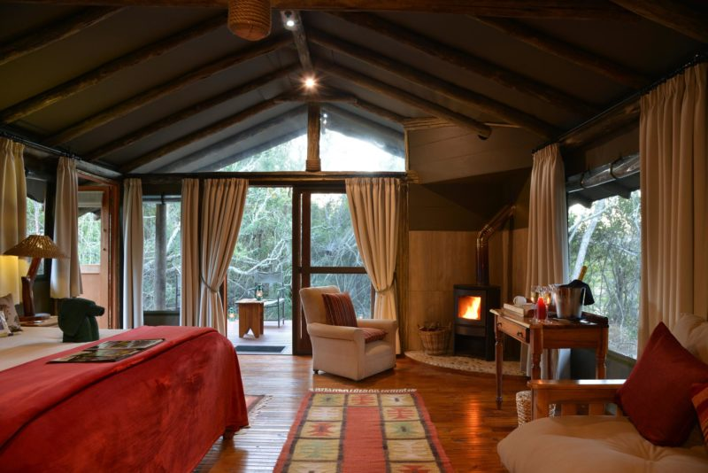South Africa - Eastern Private Game Reserves - Sibuya Forest Camp - Tent interior