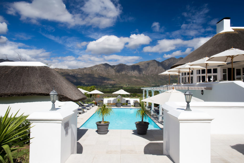 South Africa - Cape Winelands - Mont Rochelle Hotel & Vineyard - Pool